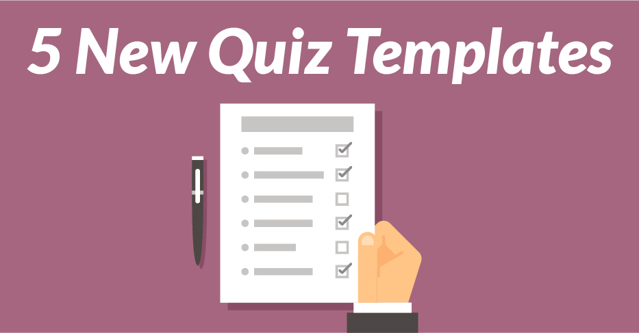 5 New Quiz Templates Added to the Library - eLearning